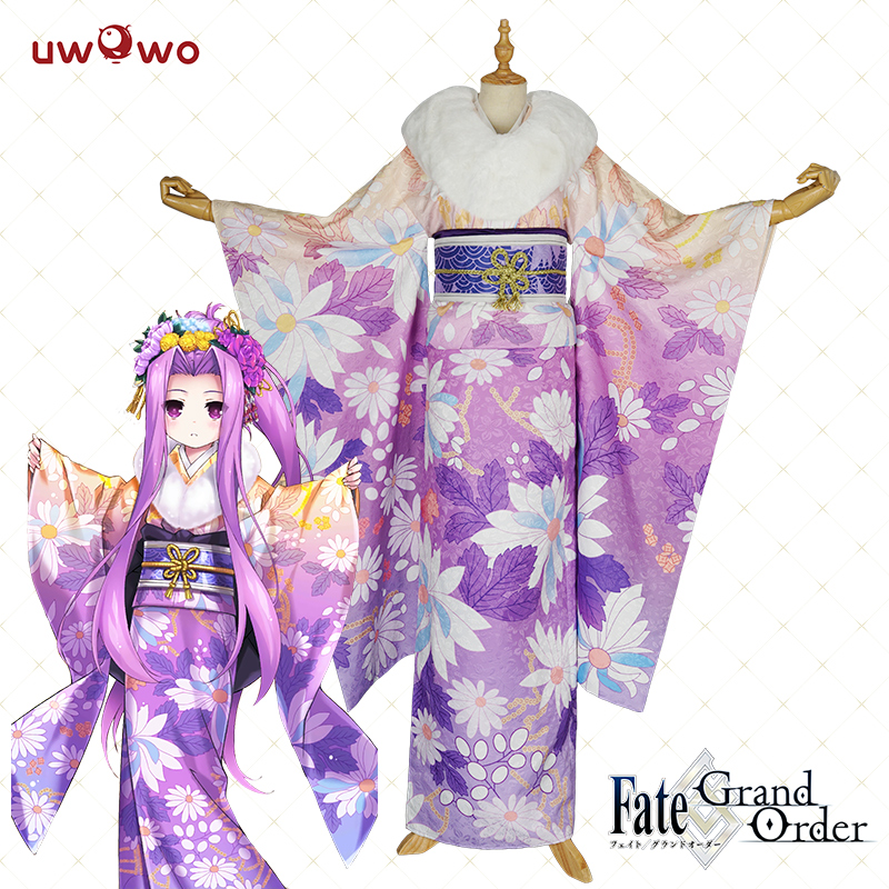 Anime Fate/Grand Order Cosplay Medusa Conceptual Kimono Print Cosplay Costume Full Set For Women Halloween Costume For Women