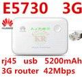 Разблокирована Huawei E5730 3 г Карман для Мобильного 3 г Wi-Fi Модем 3 г wi-fi маршрутизатор мифи ключ 3 г с power bank usb rj45 pk e5570 e5776 e5756