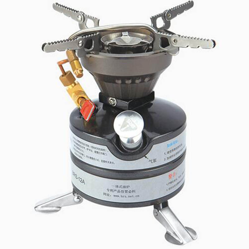 BRS-12A Mini Liquid Fuel Camping Gasoline Stoves Portable Outdoor Kerosene Stove Burners Diesel Kerosene Oil Stove