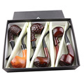6 Pcs/Set Classic Style Wood Tobacco Smoking Pipes Best Gift for Grandfather Boy Friend Father
