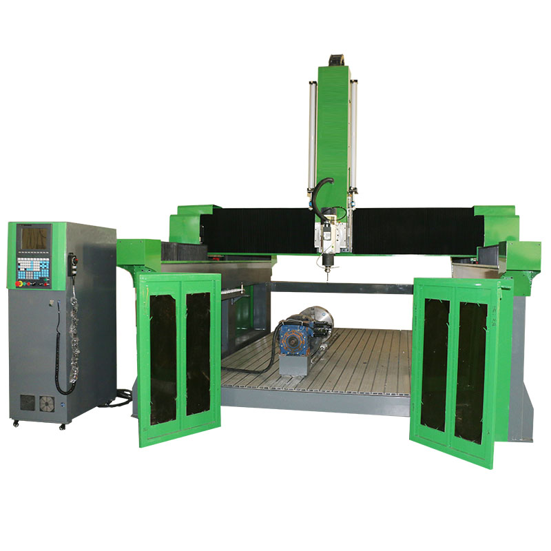 5 axis CNC router 1325 rotary ATC machine for cutting EPS