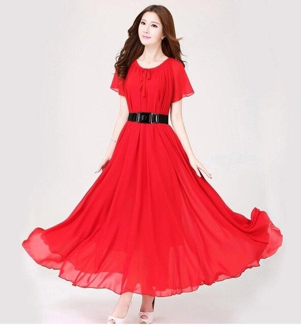 New Plus Size Long Chiffon Dress For Women Celebrities Bohemian