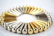 6pcs/Set Chrome/Gold Acoustic Guitar Bridge Pins Brass Free Shippng цена и фото