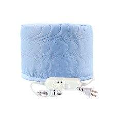 Синяя электрическая нагревательная Крышка для волос, постоянная двойная температура, шапочка для ухода за волосами, Испарительный колпачок для окрашивания волос