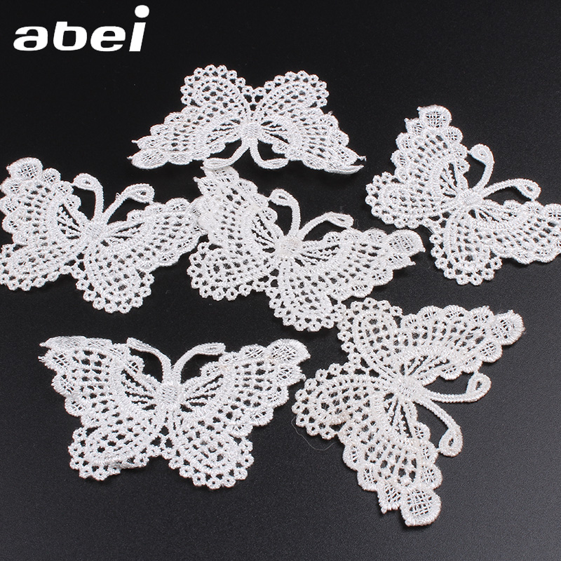 XUNHUI Flower White Cotton Lace Ribbon Trim DIY Craft Sewing Applique Craft Wedding Decoration Wrapping Ribbon for Home Mix 6 Pieces 1 Yard Each