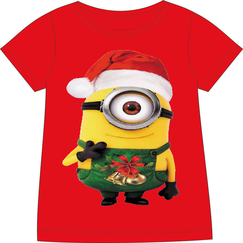 summer style kids minion t shirt baby christmas minions t shirt boys girls 100 cotton cartoon tees short sleeve minions tops in t shirts from mother kids - Minion Christmas Shirt