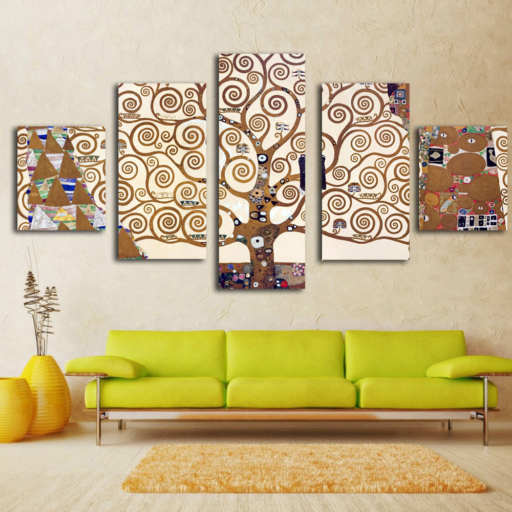 5 Pieces Gustav Klimt prints Wall Art Print on Canvas for Home ...