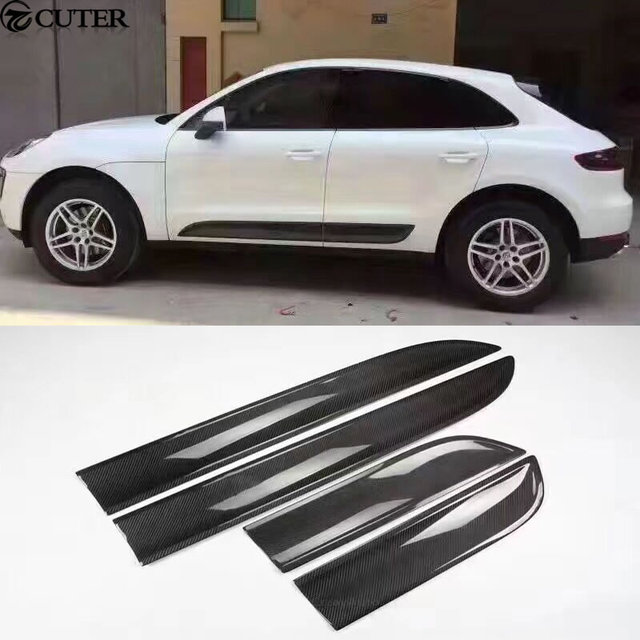 timeless design 799a3 94132 US $194.39 28% di SCONTO|Auto in fibra di carbonio body kit Per Auto door  trim minigonne laterali per Porsche Macan 15 16 in Auto in fibra di  carbonio ...