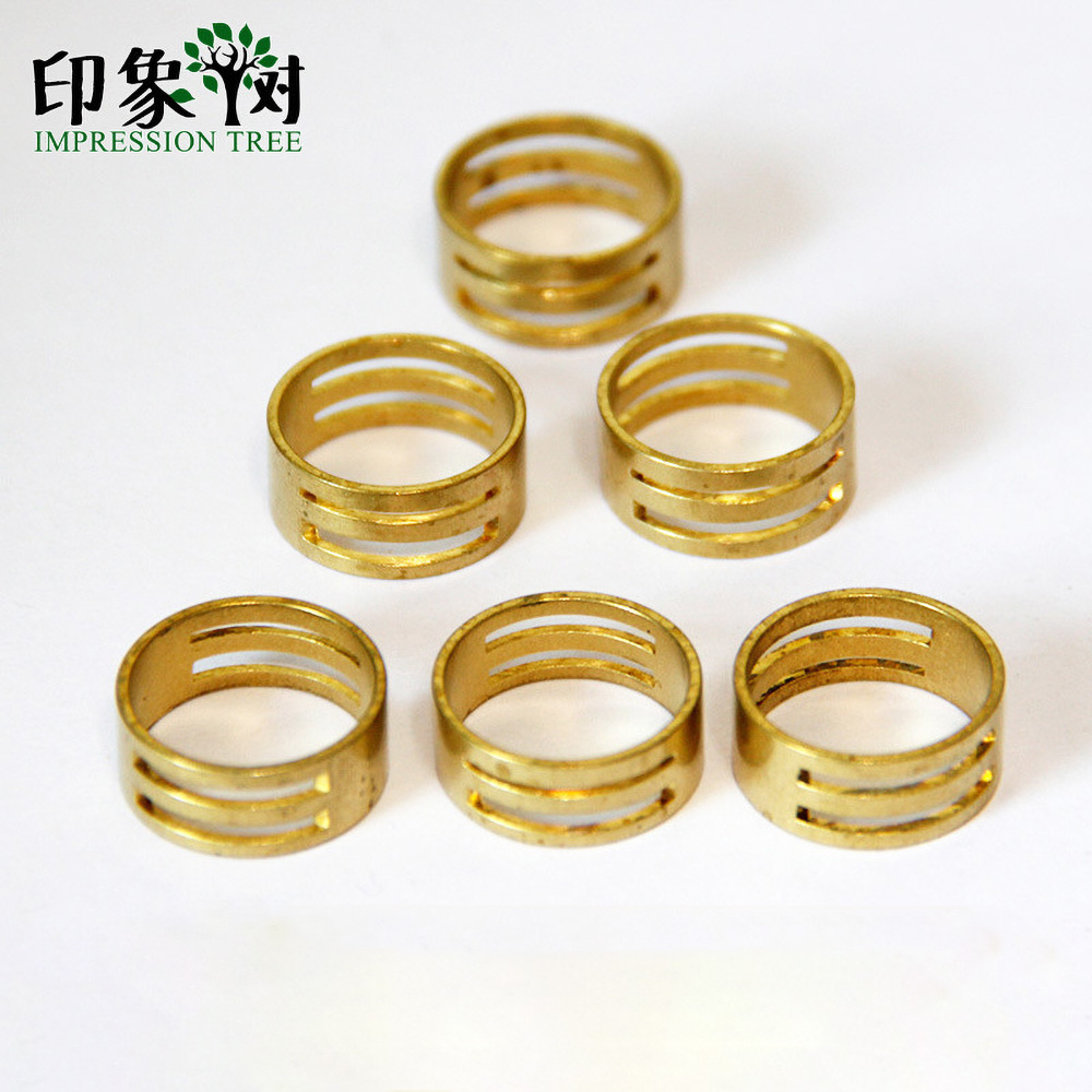 2pcs 19*8mm DIY Raw Brass Jump Ring Opening Closing Finger Tools For Jewellery Making Accessories 1185