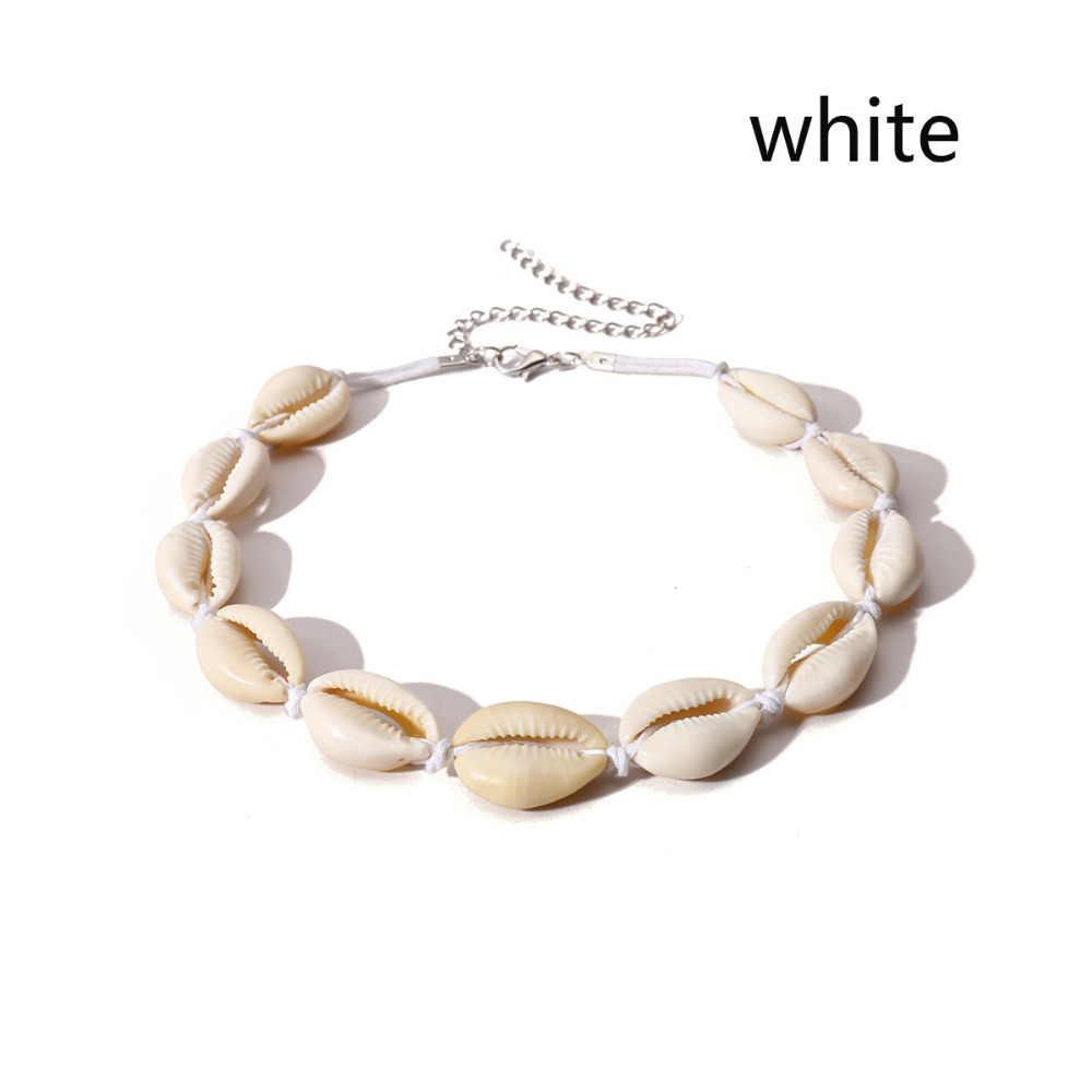 Yiustar женское ожерелье Бохо морские Ожерелья в виде ракушки девушки чокер с цепочкой браслет Элегантные Простые пляжные украшения подарок на день матери