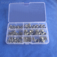 165pcs M3 M4 M5 M6 M8 M10 M12 Stainless Steel Nylon Lock Nut Metric Assortment Kit