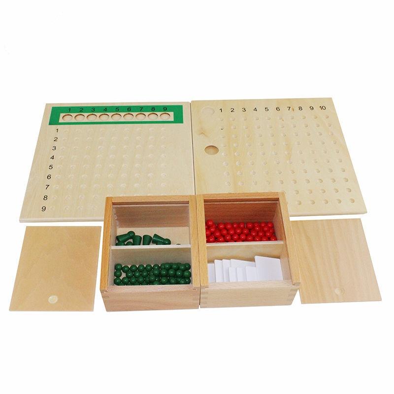 Montessori enfants enfants mathématiques jouets éducation en bois jouets Addition, soustraction, Multiplication et divisions conseils - 2