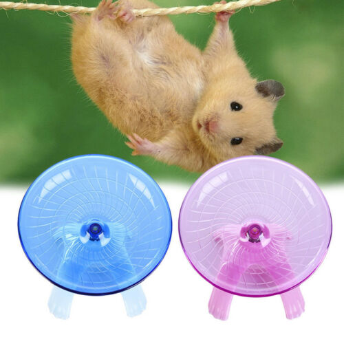 New Non Slip Running Disc Flying Saucer Exercise Wheel For Pet Mice Dwarf Hamsters Small Pets