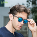 Fashion vintage Sunglasses Men lentes de sol mujer Wrap eyewear Brand Polaroid polarized Glasses Blue oval Customized Fishing