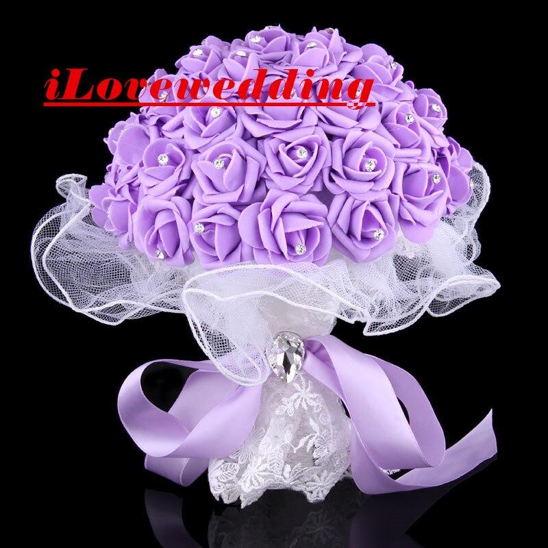 Barato 4 Cores Buquês De Casamento 2016 Buque De Flores Sopro De Papel De Moldura Rosa Flores De Noiva Acessórios Vestido Frete Grátis