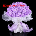 Cheap 4 Colors Wedding Bourquets 2016 Buque De Noiva Blow Molding Paper Rose Bridal Flowers Accessories Gown Free Shipping
