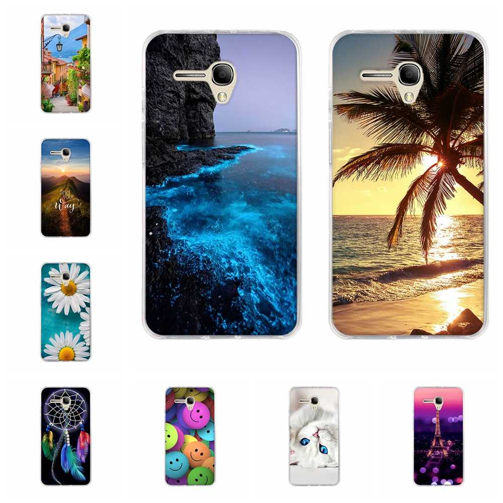 "For Alcatel Pop 3 5.5 Case Soft TPU Silicone For Alcatel Pop 3 5025D Cover Cartoon Pattern For alcatel OneTouch pop3 5.5"" Cover"