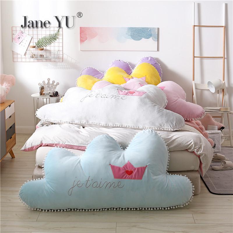 JaneYU mode Ins couronne oreiller lit coussin grand dos 1.8 m enfants chambre Long oreiller Tatami doux sac Style princesse