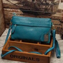 Bolsa de couro genuíno vintage, pequena bolsa de mão de marca famosa com encaixe, bolsa de mensageiro para mulheres