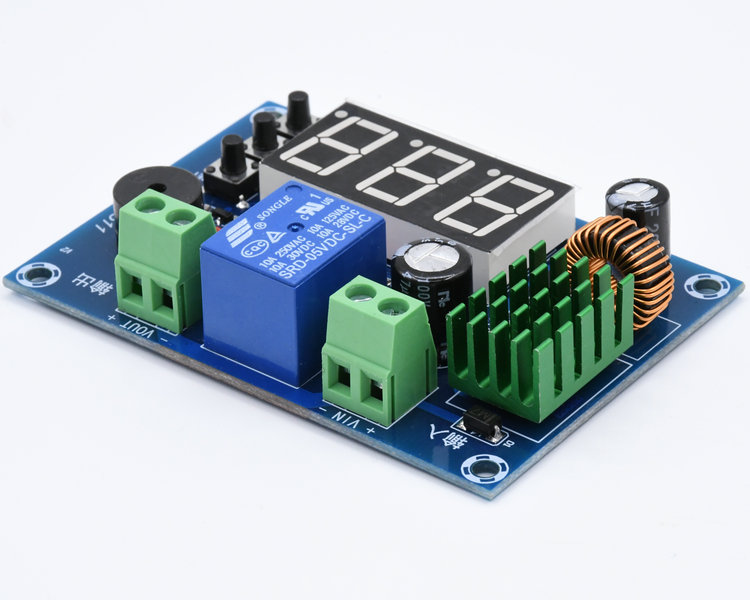 DC 7-<font><b>80V</b></font> <font><b>12V</b></font> 24V 48V Battery Protection Module Lead-acid Lithium Battery Low Voltage Over Discharge Protection Board With Alarm image