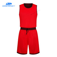 Adsmoney Red Green Sleeveless Basketball Jersey DIY Reversible Basketball Uniforms double side Sets Quickly Dry Training Jerseys