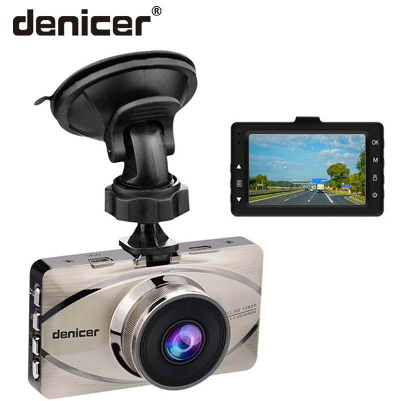 Car DVR Vehicle Camera Dash Cam Driving Video Recorder 1080P HD Camera 170 Degree Wide Angle Lens 3 Inches Screen Night Vision