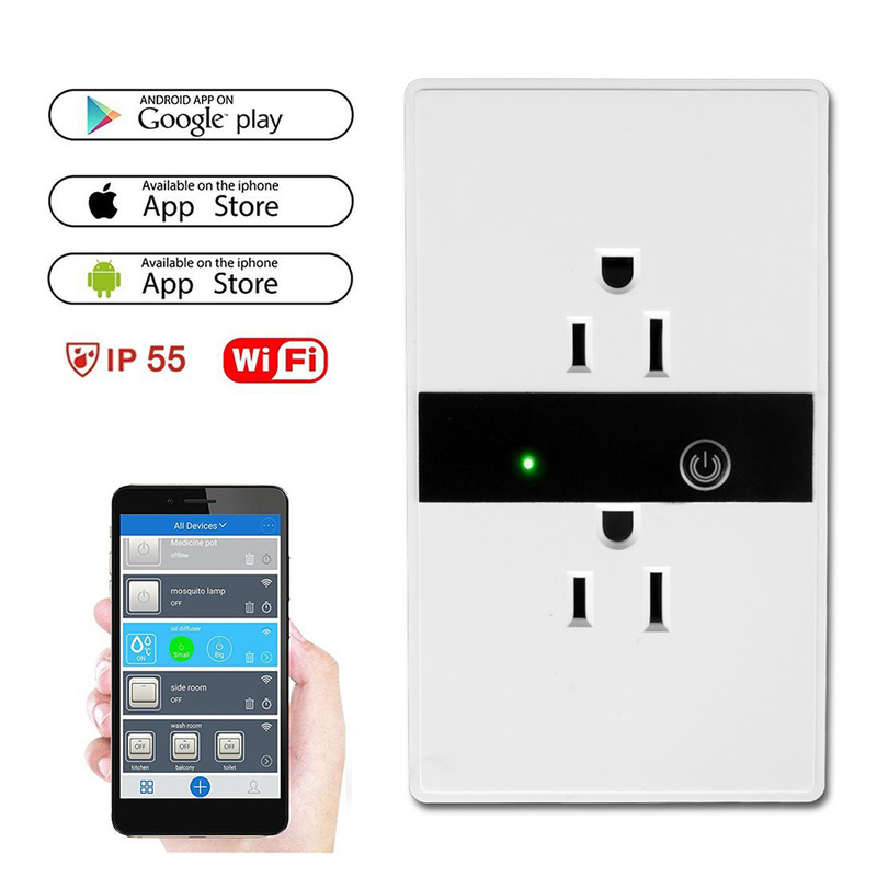 WIFI Smart Plug Wall Switch Socket Plug With Alexa Google Home Audio Control Smart Timing Socket Wireless Outlet Voice Control