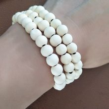 2018 hot bracelet Ethnic style wooden bead stretch bracelet lap small beads for women and men jewelry colors chain bracelet(China)