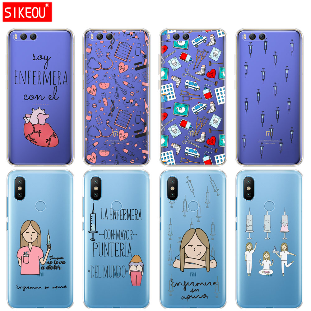Fitted Cases Capable Silicone Cover Case For Xiaomi Mi 8 8se A1 A2 Lite 5 5s 5x 6 Mi5 Mi6 Note 3 Max Mix 2 2s Nurse Doctor Dentist Tooth Injections