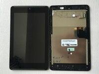 טוב מבחן מסך לוח תצוגת LCD + Digitizer מסך מגע זכוכית עם מסגרת עצרת Asus Fonepad 7 ME372CG ME372 K00E