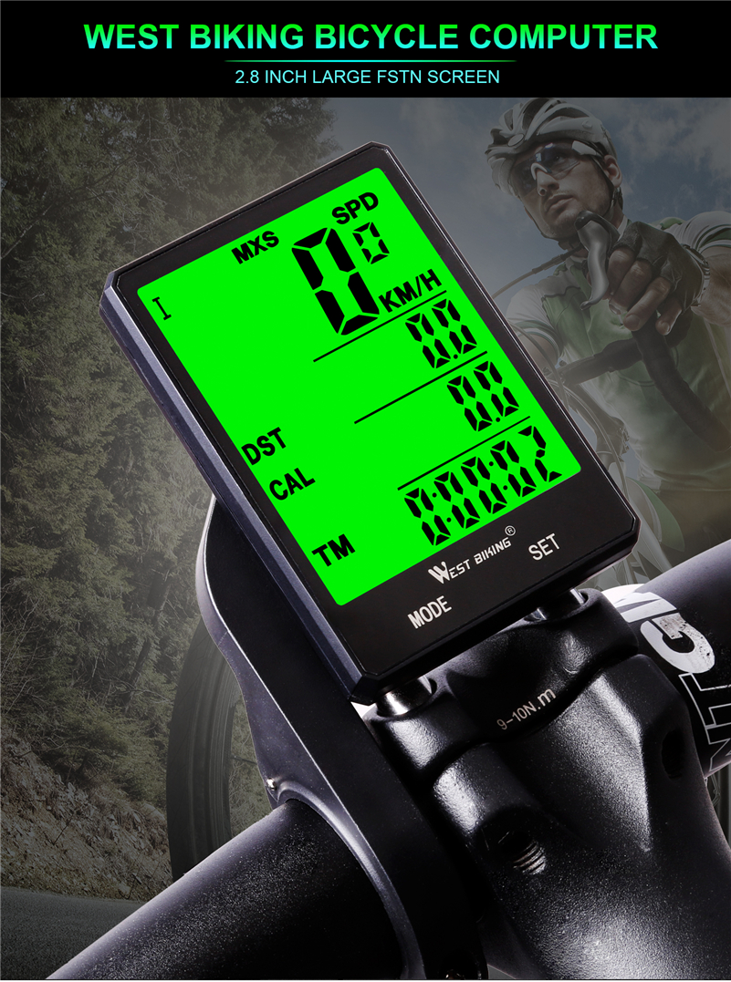 Ordinateur de vélo sans fil étanche, compteur de vitesse et de distance parcourue