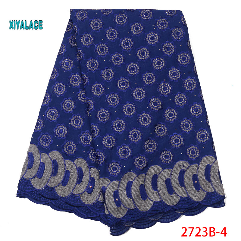 Swiss Voile Lace African Lace Fabrics Nigerian 2019 High Quality French Swiss Voile Lace In Switzerland For Wedding YA2723B-4