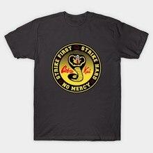 0ca2edf421f Cobra Kai Karate Kid T-Shirt Print T-shirt All Sizes Summer Short Sleeve