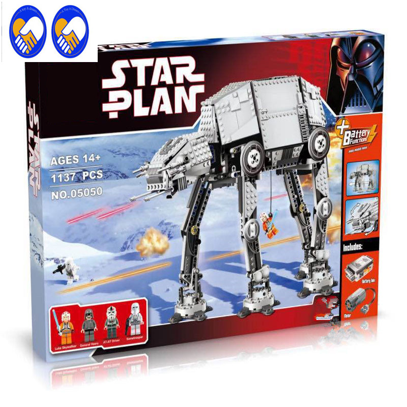 A Toy A Dream Lepin 05050 Star War Series AT-AT the Robot Electric Remote Control Building Blocks Toys 1137pcs Compatible 10178 lonely robot lonely robot the big dream 2 lp cd
