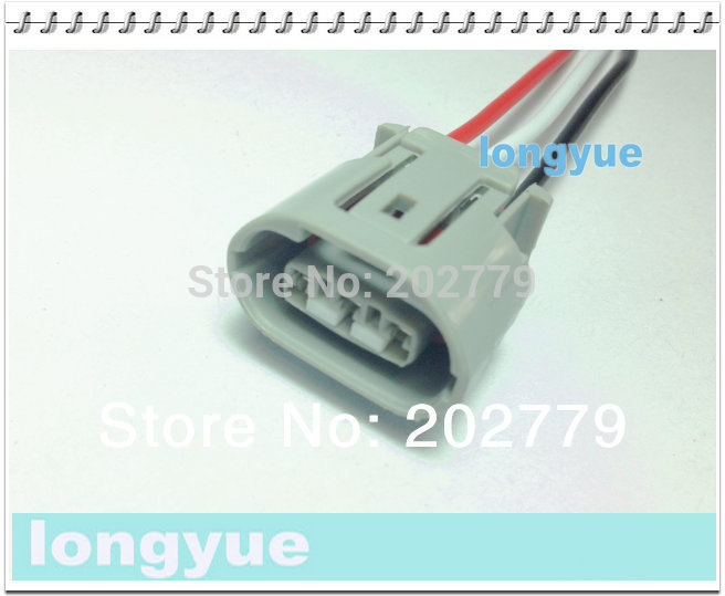 toyota alternator wiring harness promotion shop for promotional longyue 2pcs universal alternator repair sockets for denso oval denso toyota suzuki 3 pin connectors harness 15cm wire