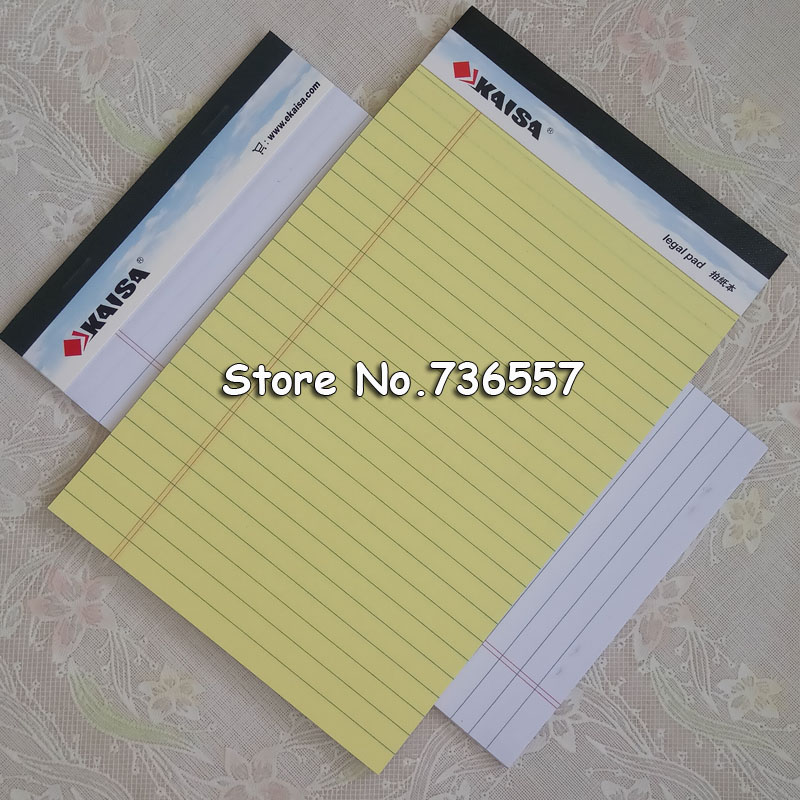 1PAD(PCS) Memo Pad USA style Legal pad 50 sheets A5 A4 Notebook paper Office School Supplies Notebooks Writing Pad