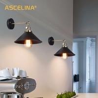 빈티지 벽 램프 손잡이 스위치 로프트 녹색 청동 e27 알루미늄 램프 홀더 철 아트 레트로 레스토랑 홈 라이트 연구 램프 wl156