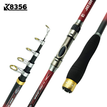 Carbon 2.1M 2.4M 2.7M 3.0M 3.6M Portable Telescopic Fishing Rod Spinning Hand Fishing Tackle Sea Rod Fishing tackle accessory