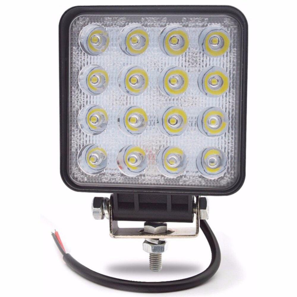 1 шт. светодиодный свет работы 4,2 Дюймов 48 Вт 12 В-24 В Spot/потока Светодиодный свет Offroad лампы Worklight для Off road ATV автомобиля мотоцикла Грузовик