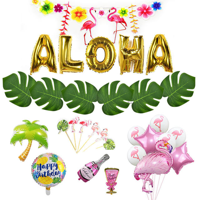 Summer Tropical Luau Party  Decorations