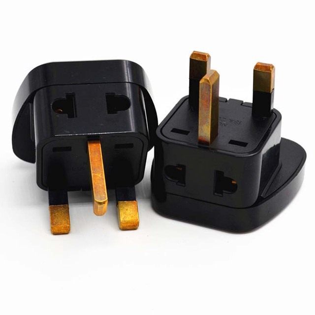 10pcs 1to2 Us Au Eu To Uk Plug Adapter Converter Singapore Household Plugs Wall Outlet Sockets With Safety Door
