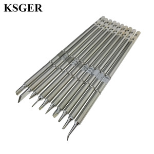 Electronic Tools Tool Soldering Iron KSGER 220v T12-B BC2 D08 D24 D4 C1 C4 I JL02 K Soldering Tip For FX-951 Soldering Station(China)