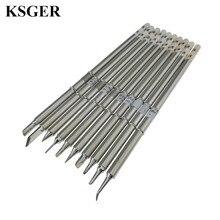 Narzędzia elektroniczne narzędzie do lutowania żelaza KSGER 220v T12 B BC2 D08 D24 D4 C1 C4, JL02 K grot lutownicy dla FX 951 stacja lutownicza