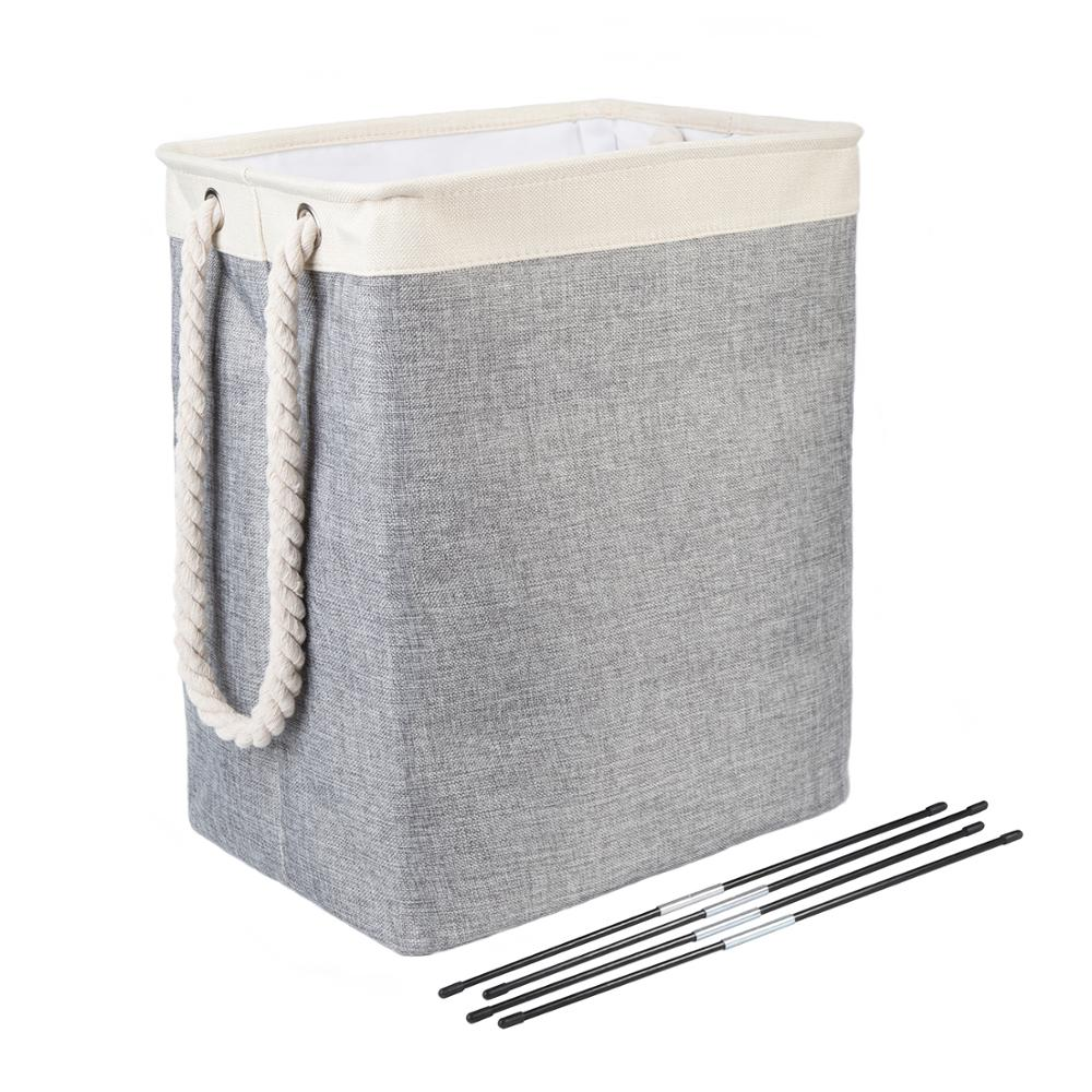 Hamper Basket Clothing Toy Storage Linens Laundry Organization with Carry-Handles