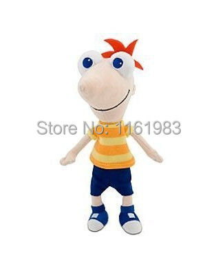 Phineas And Ferb Plush Toys Phineas Plush Mini Bean Bag Toy Talking Phineas Flynn Plush 40cm