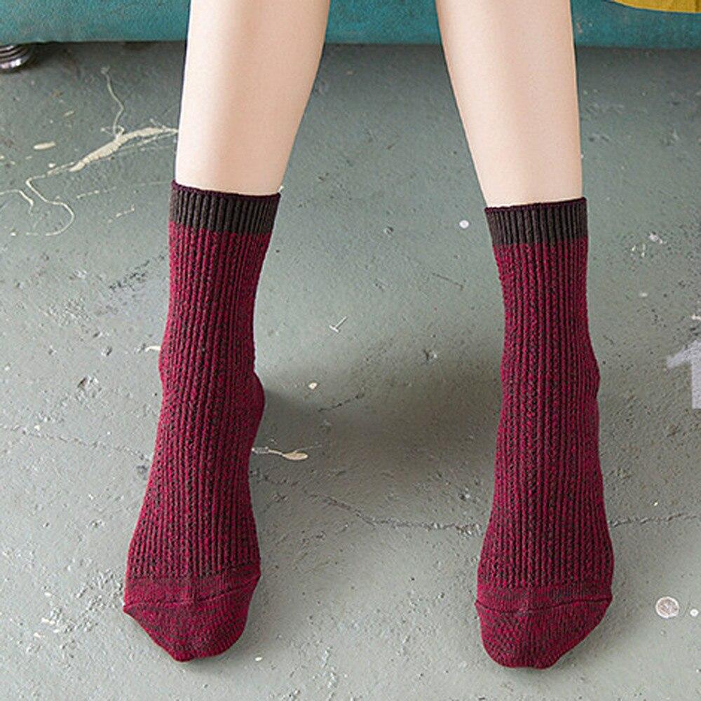 67e4d024f66 DOUDOULU New Women Winter Warm Leg Warmers Cable Knit Knitted Crochet Long  Socks Footprints Socks calcetines mujer algodon WMES