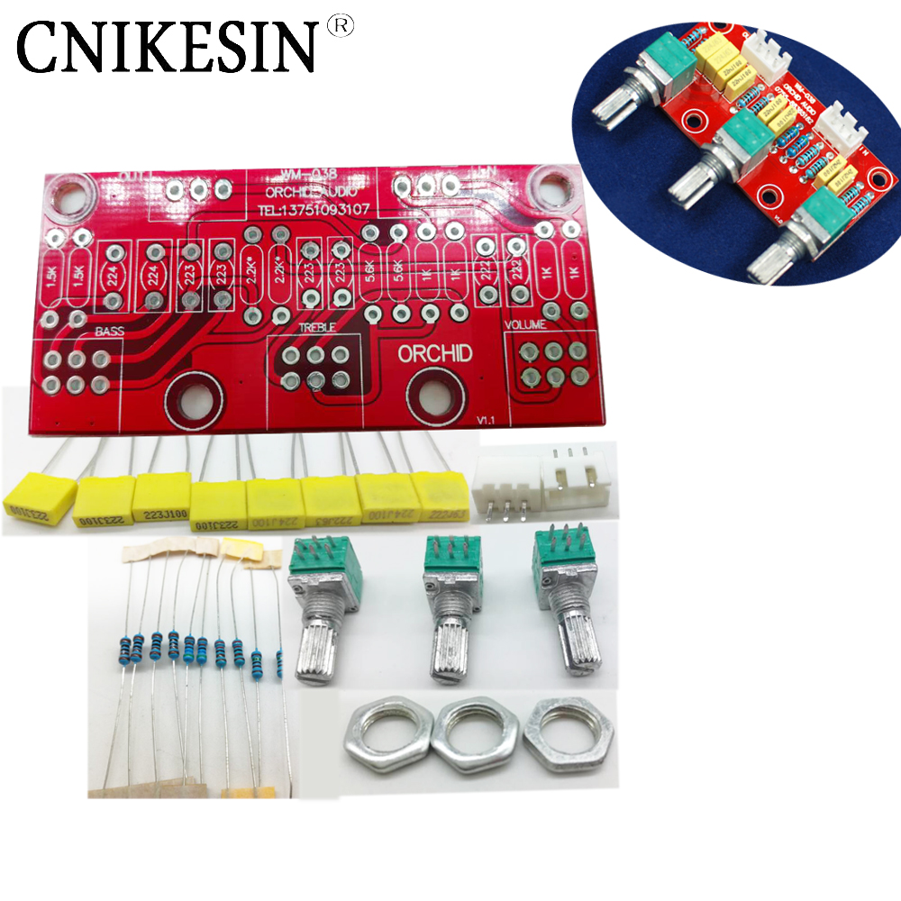 CNIKESIN DIY Passive adjustment plate high and low tones first grade plate front plate HIFI bulk suite diy electronic kits
