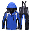 ROSSIGNOL boy ski jacket and pants set winter snowboard clothes thermal cotton-padded kids snow suits waterproof ski coats