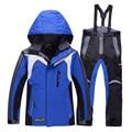 ROSSIGNOL jaqueta de esqui e calças do menino conjunto de roupas de snowboard inverno térmica algodão-acolchoado crianças ternos neve impermeável casacos de esqui