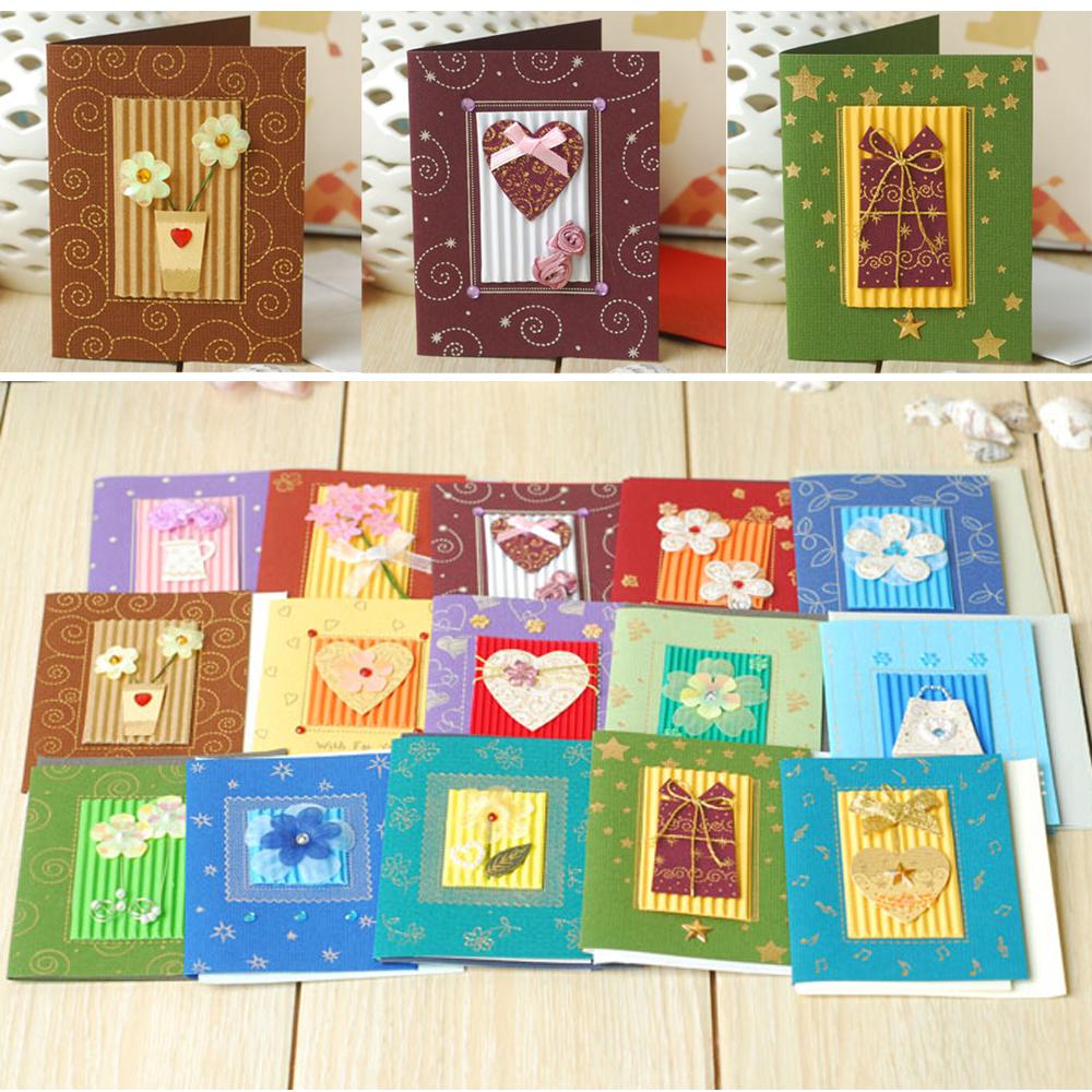 hecho a mano pequeas tarjetas de felicitacin para navidad da de san valentn tarjeta